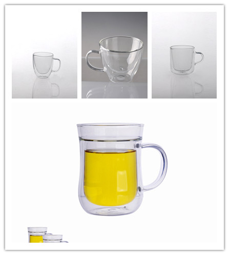 Double wall glass mug coffee glass cup