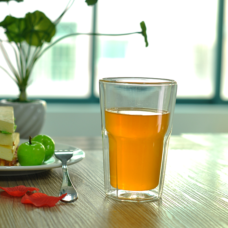 450ml drinking glass borosilicate double wall manufacturer