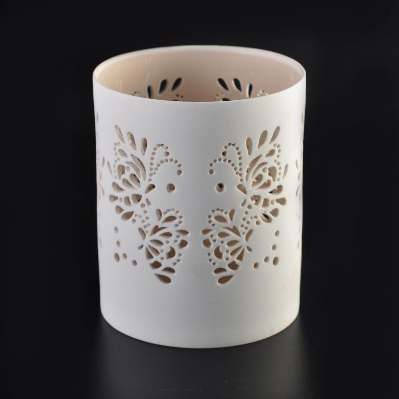 elegant carving tealight holders ceramic candle holder