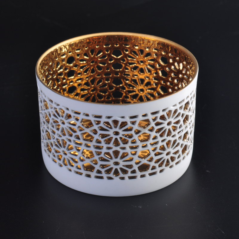 Internal Electroplating Tealight Ceramic Candle Holder