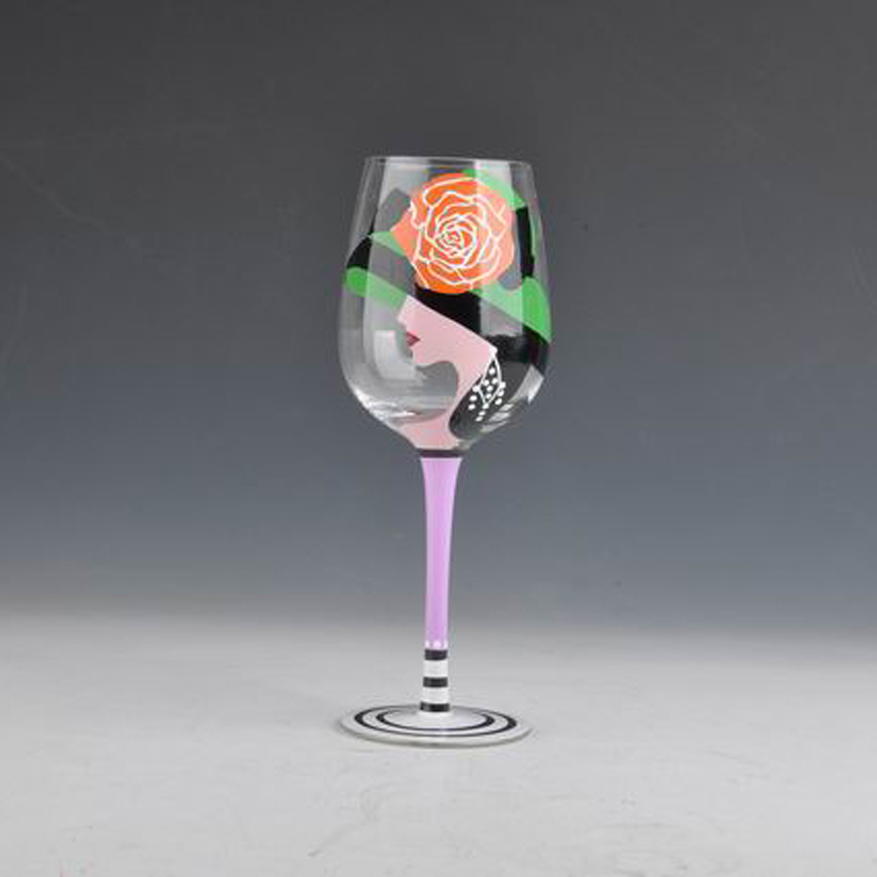 handmade martini cocktail cup painting glassware wine goblet