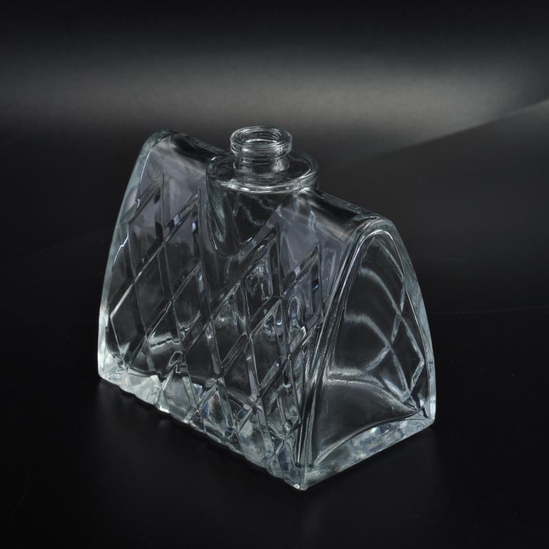 Machine Made Lady Handbag Shape Cosmetic Glass Perfume Bottle