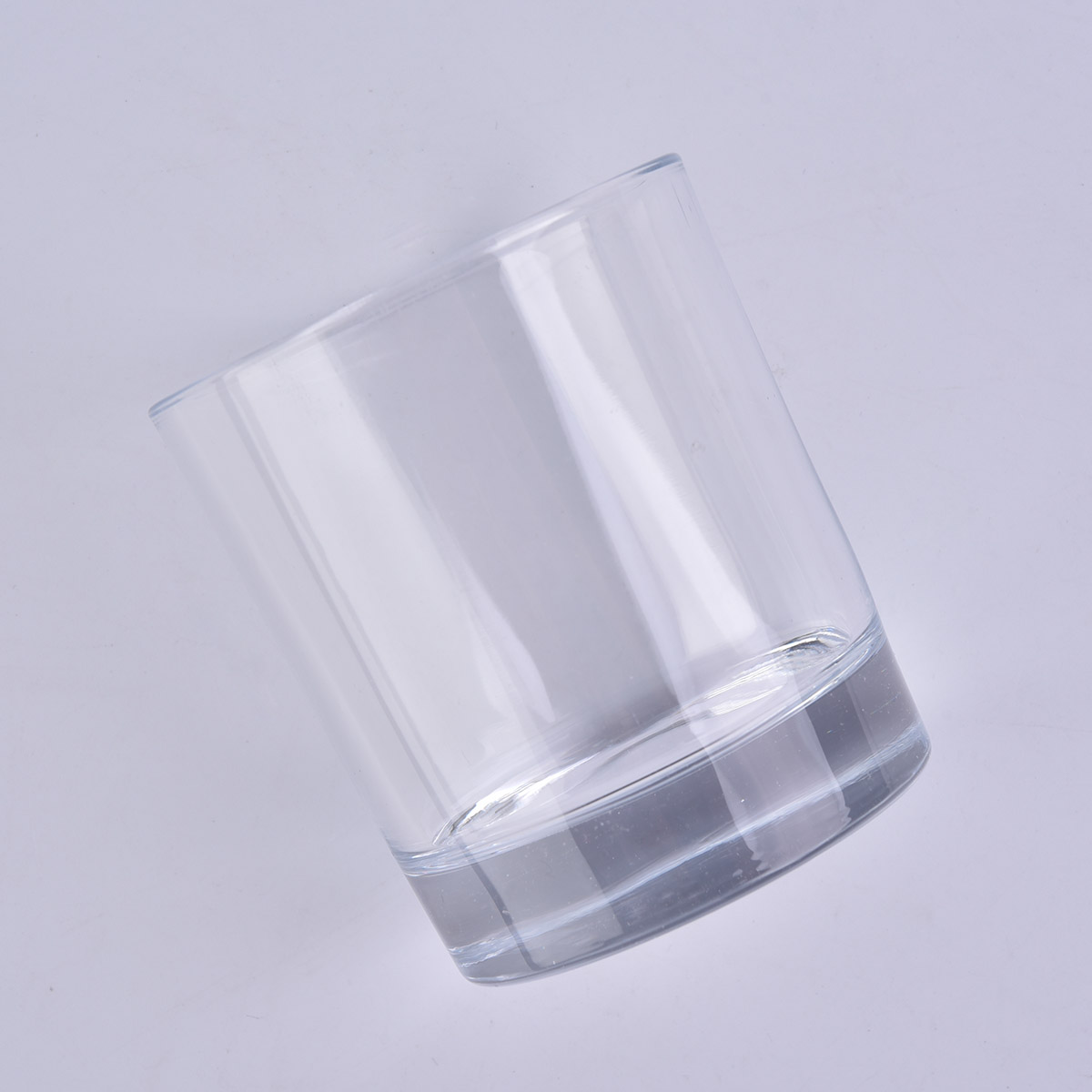 thick base glass candle jar