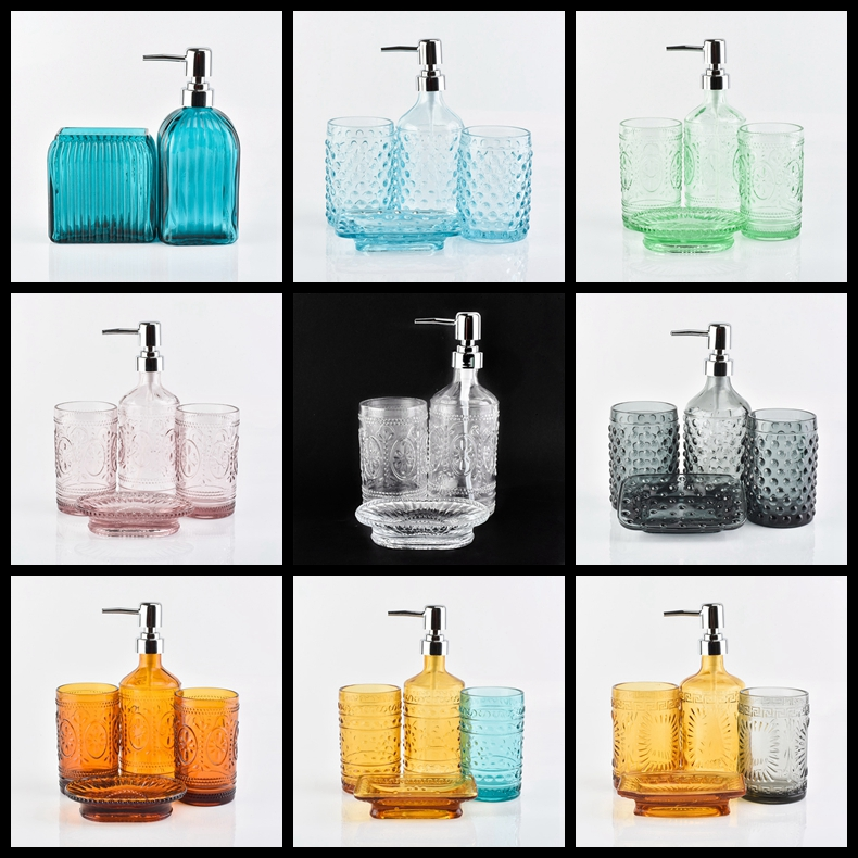 glass bathroom accessories sets