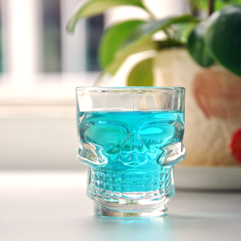 50ml clear skull face  juice glass cup water tumbler