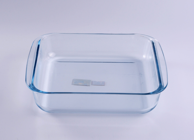 Clear Rectangle Dish Glass Plate With Handle