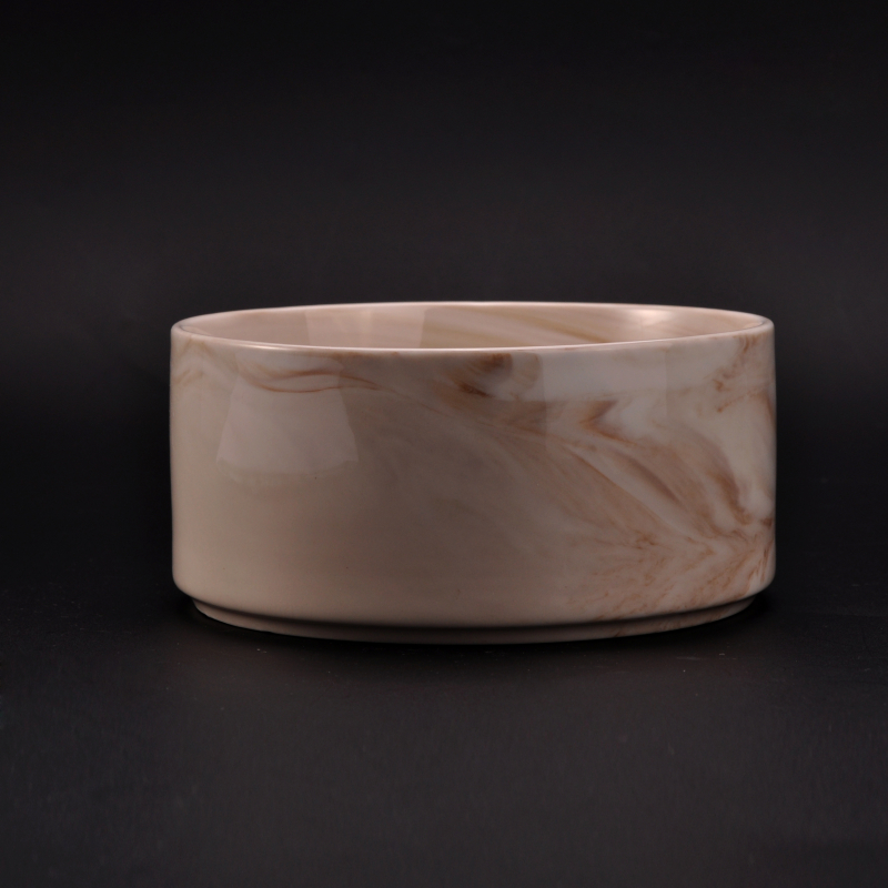 marble ceramic candle holder