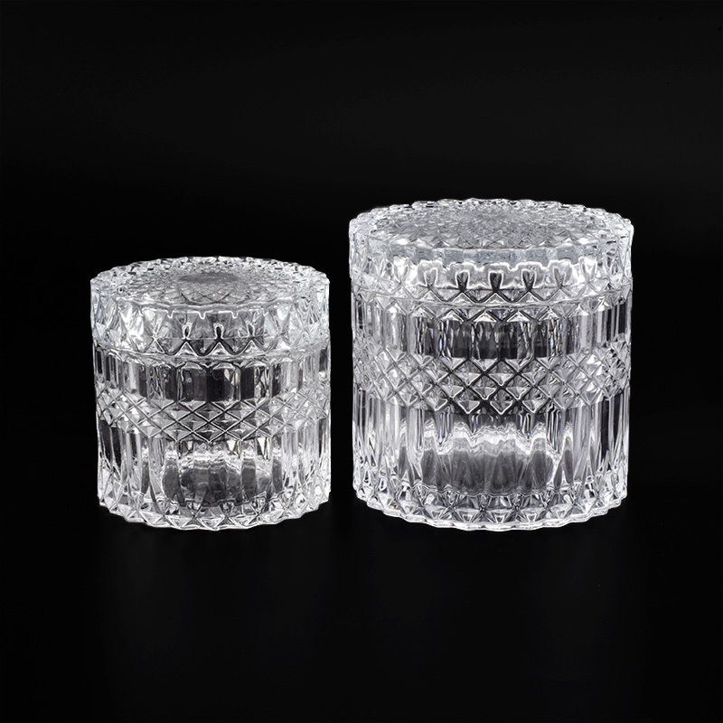glass candle holders with lids