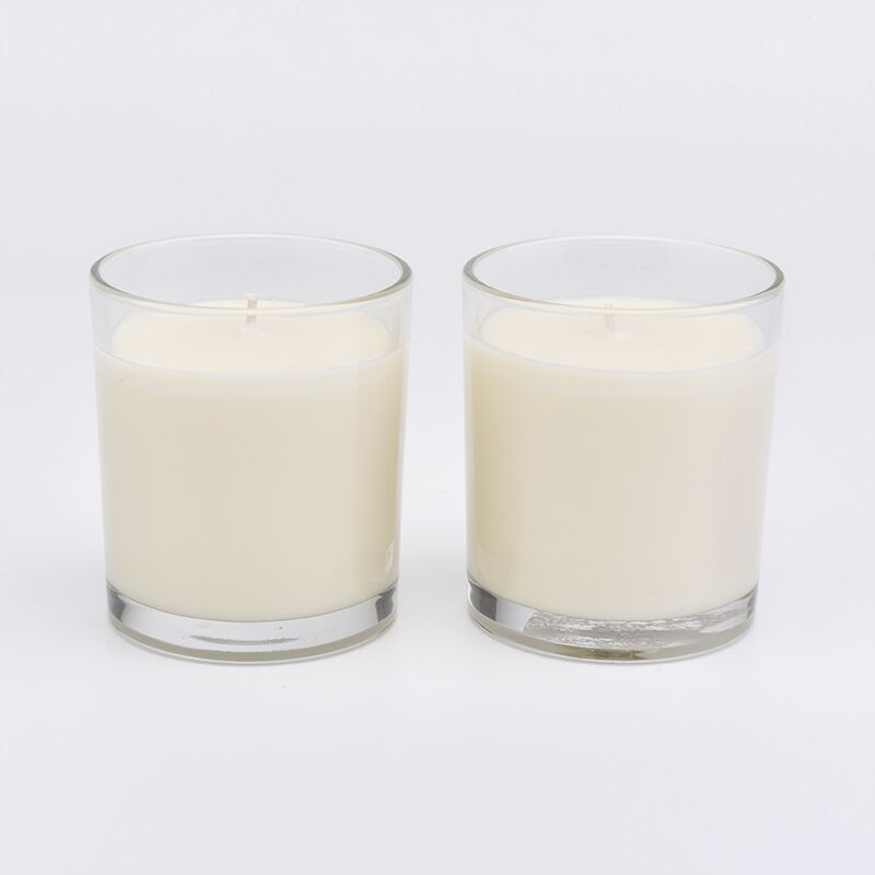 Home decorative crystal glass candle jars with 100% soy wax