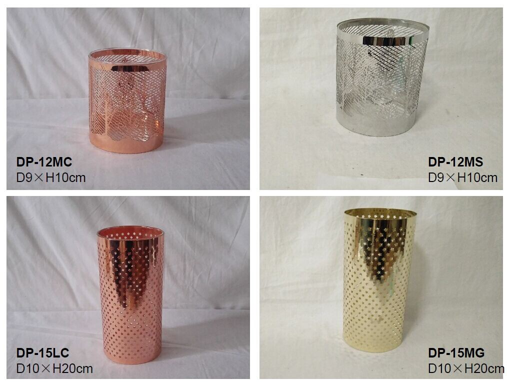 Metal sleeve for candle glasses