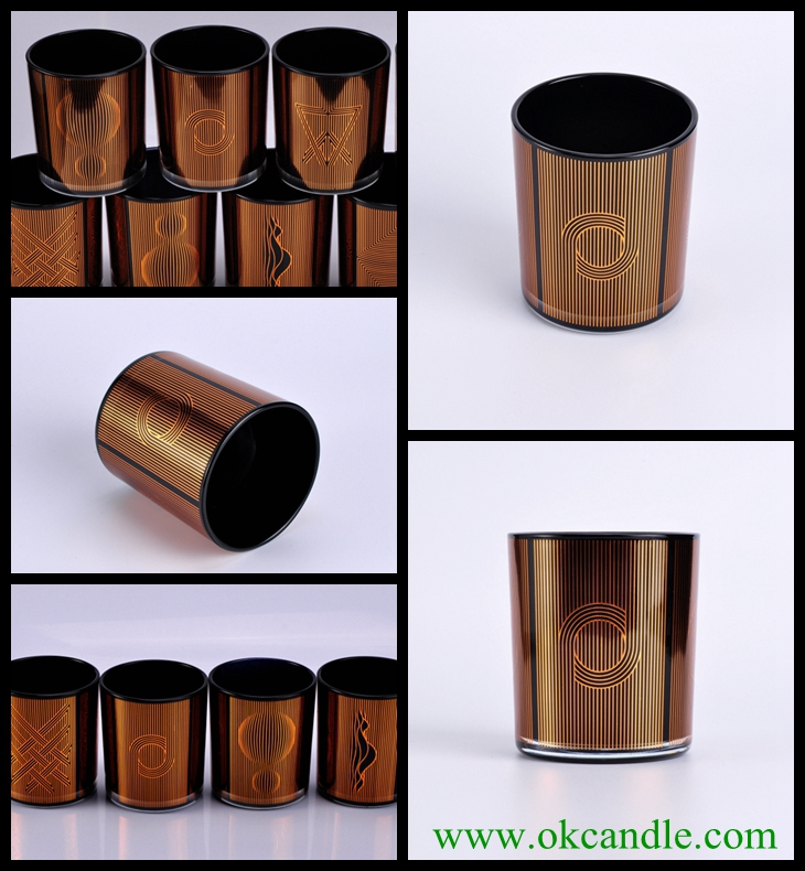 black gold candle holders