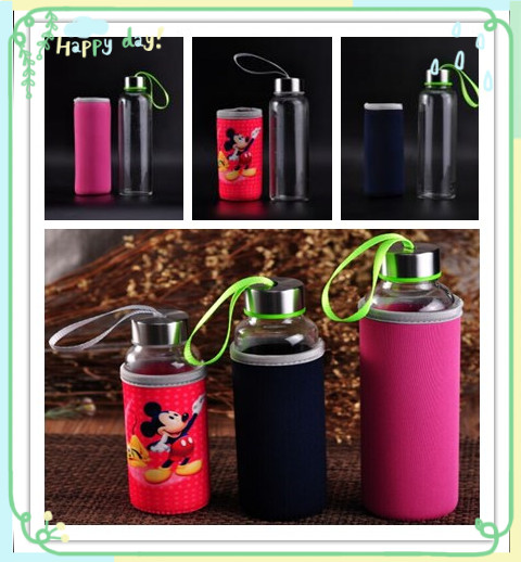 Heat resistant water bottles with sleeve for winter day