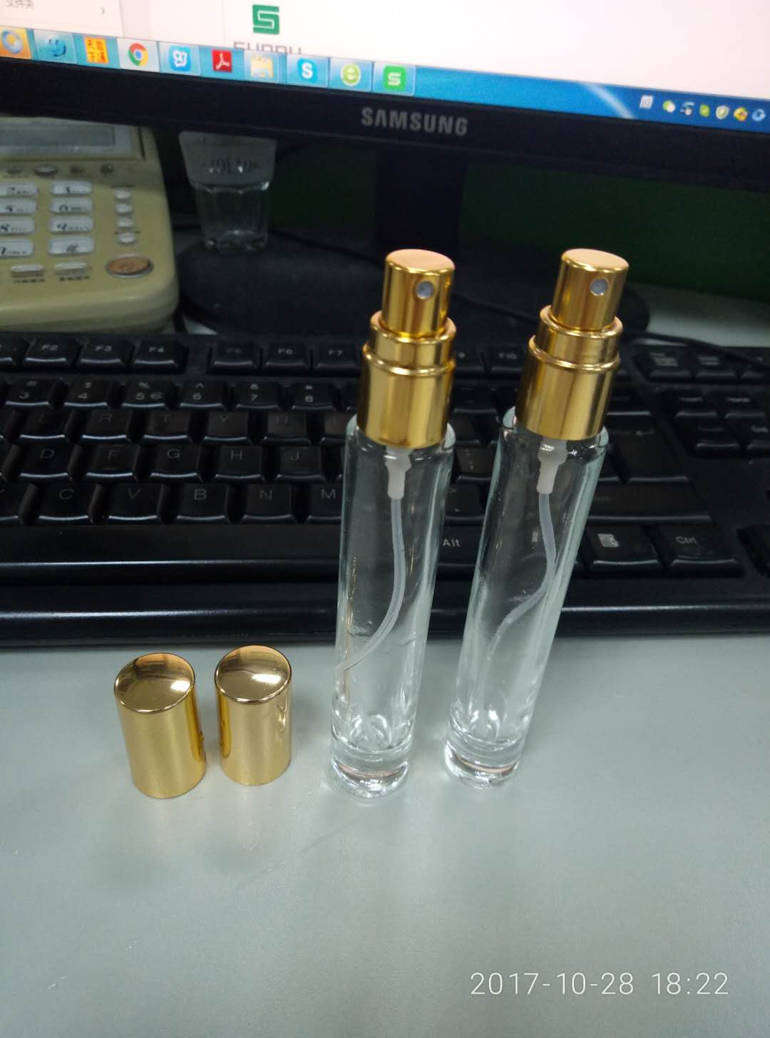10ml glass perfume bottle