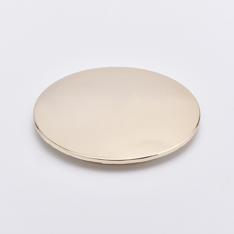 Custom Size Gold Metal Lids For Different size Candle Holders