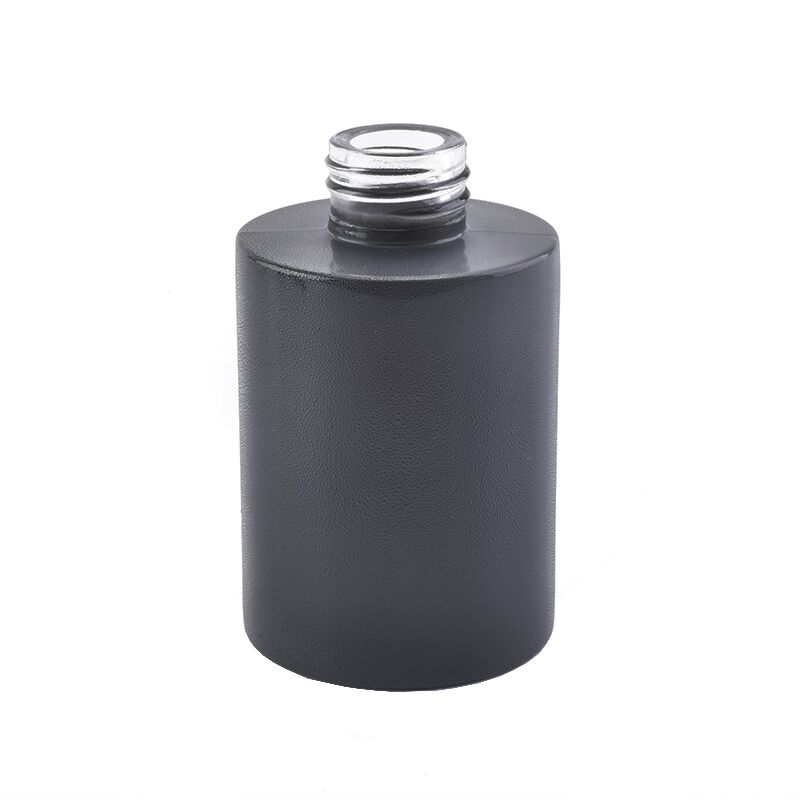120ml Aroma Diffuser Bottle Glass with Matte Black Color