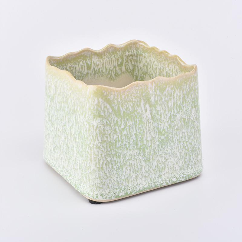 New green series ceramic candle holder