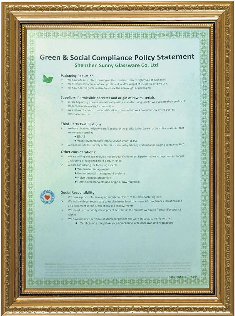 Green and Social complance Polidy Statement