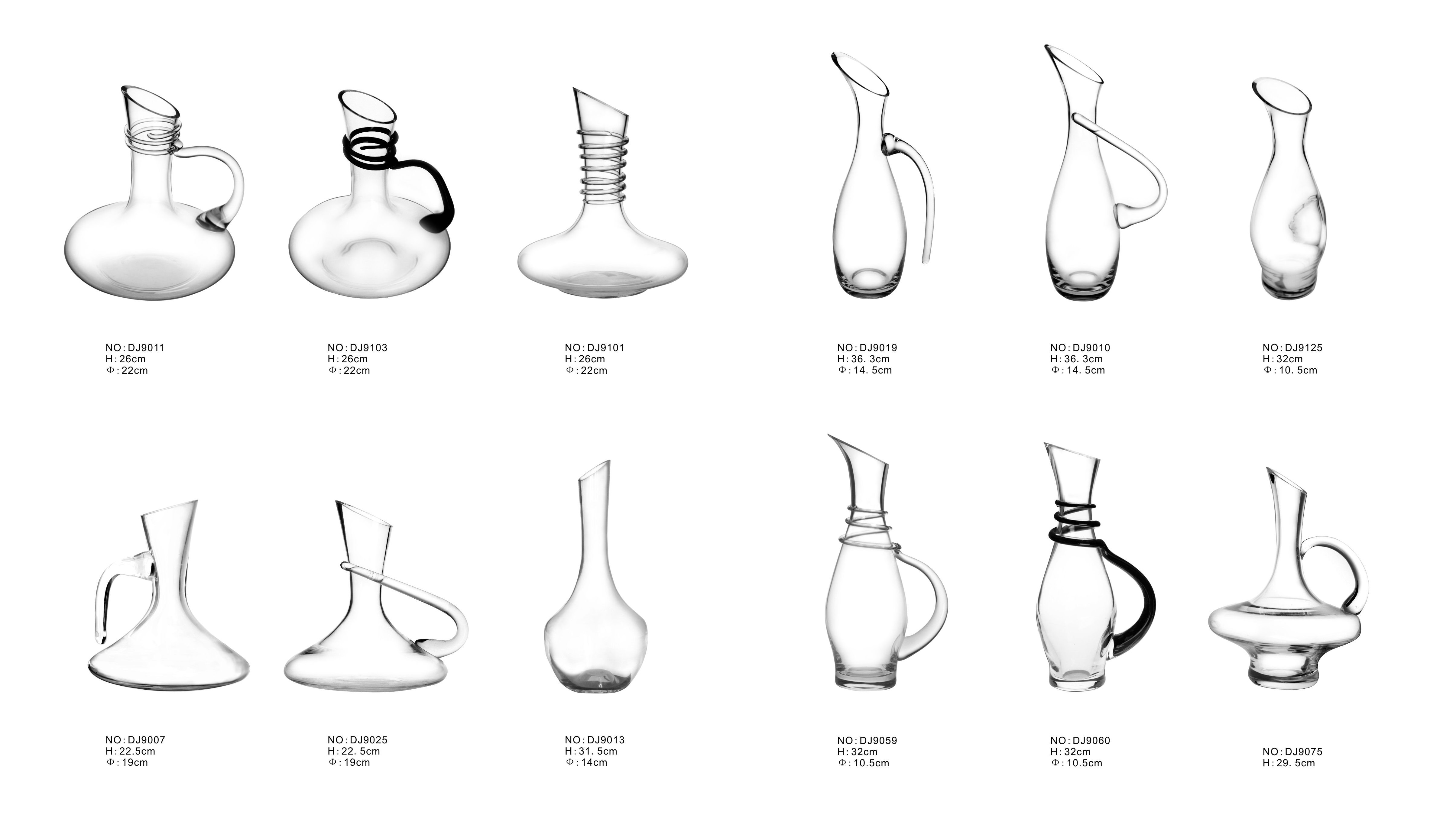 Elegant high quality hand made wine decanter