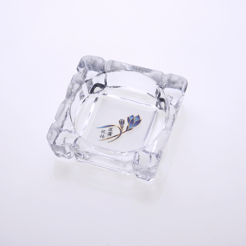 Clear Thick Square Cigarette Tobacco Smoke Ashtray