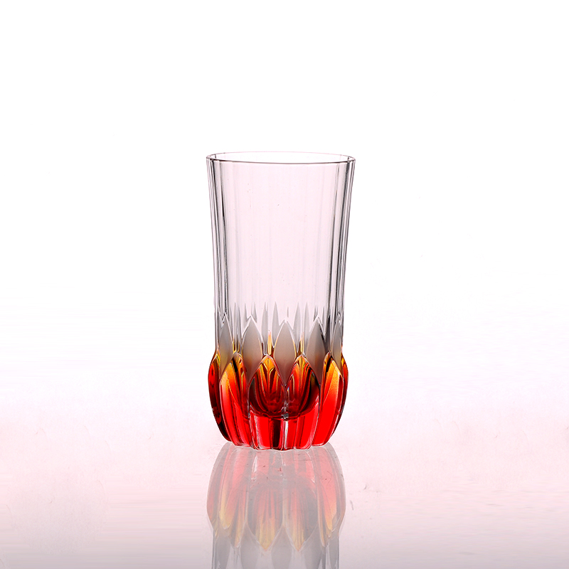 Round Bottom Spray Color Drinking Tumbler Shot Glass