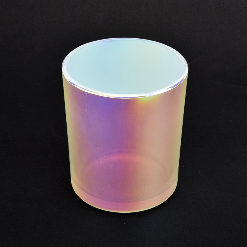 6oz 8oz 10oz White Holographic Glass Candle Jars