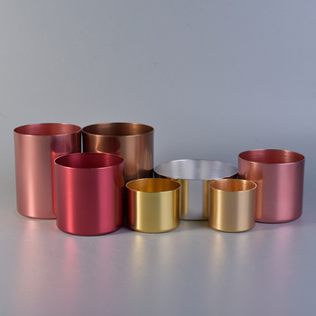 aluminum metal candle jar wholesale