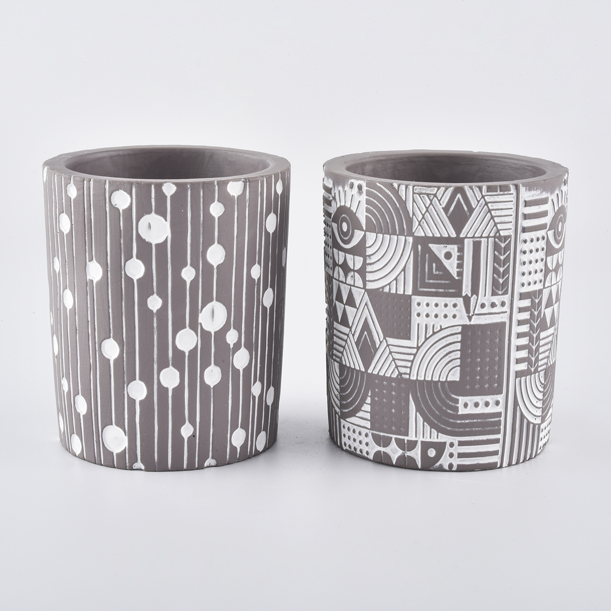 new arrival concrete candle jars from Sunny Glassware