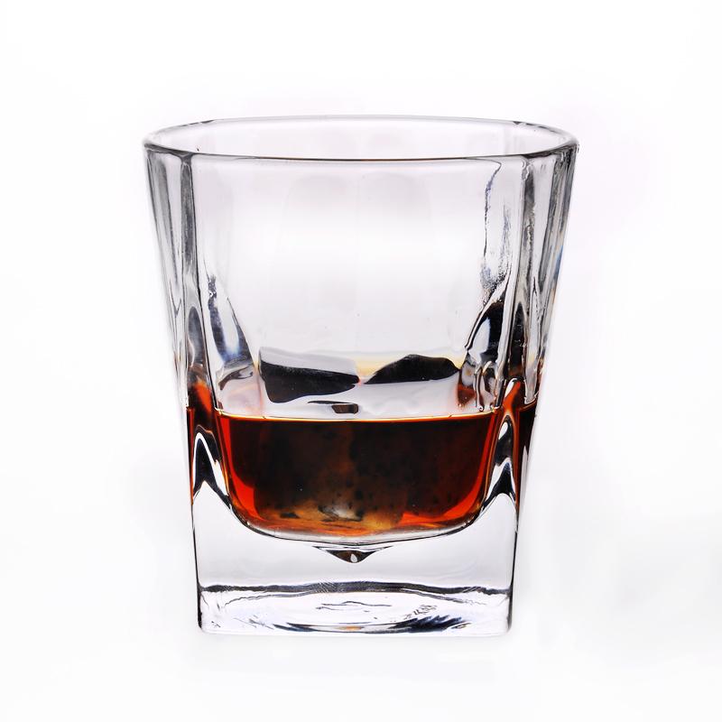 Stock fancy high white square whiskey glass cup on sale stock whiskey glass on - Square bottom wine glasses ...