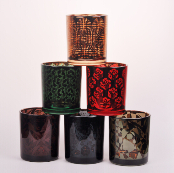 Luxury Laser Engraving Glass Candle Holders