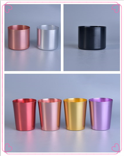 Newly colorful refilledstainless metal candle jar for decoration
