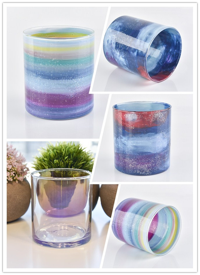 Wholesale various of Hand-painted glass candle holder
