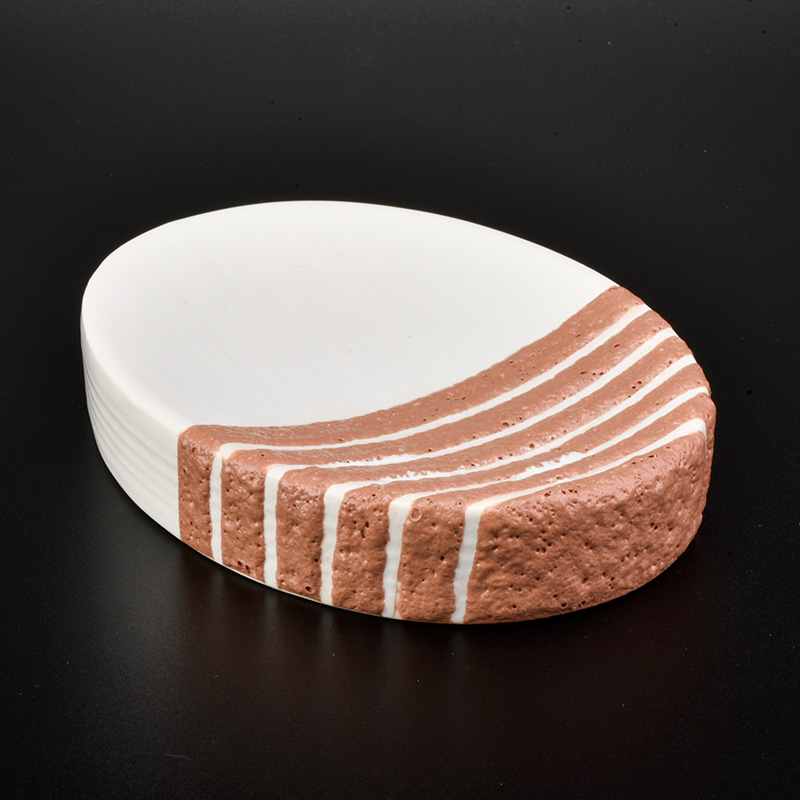 orange line decorated ceramic bathroom sets