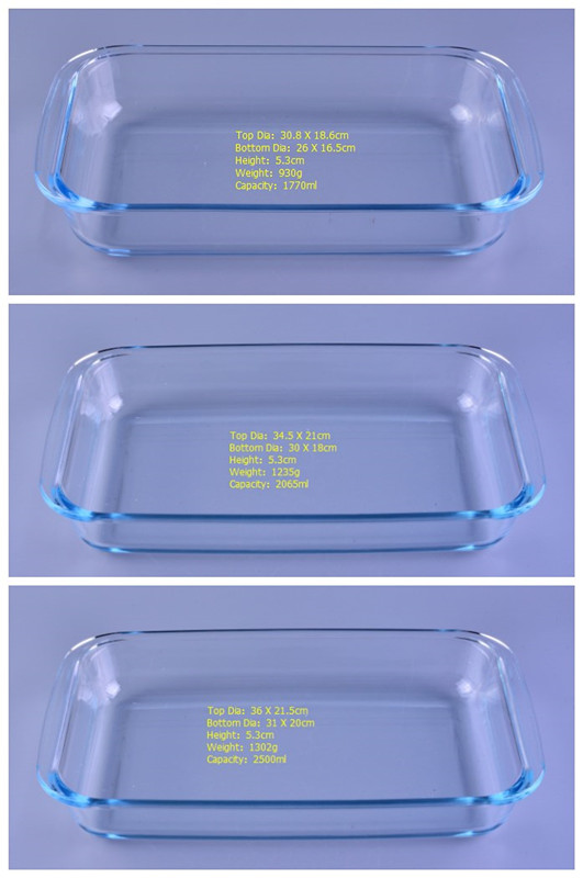 rectangle shaped glass bakeware from Sunny