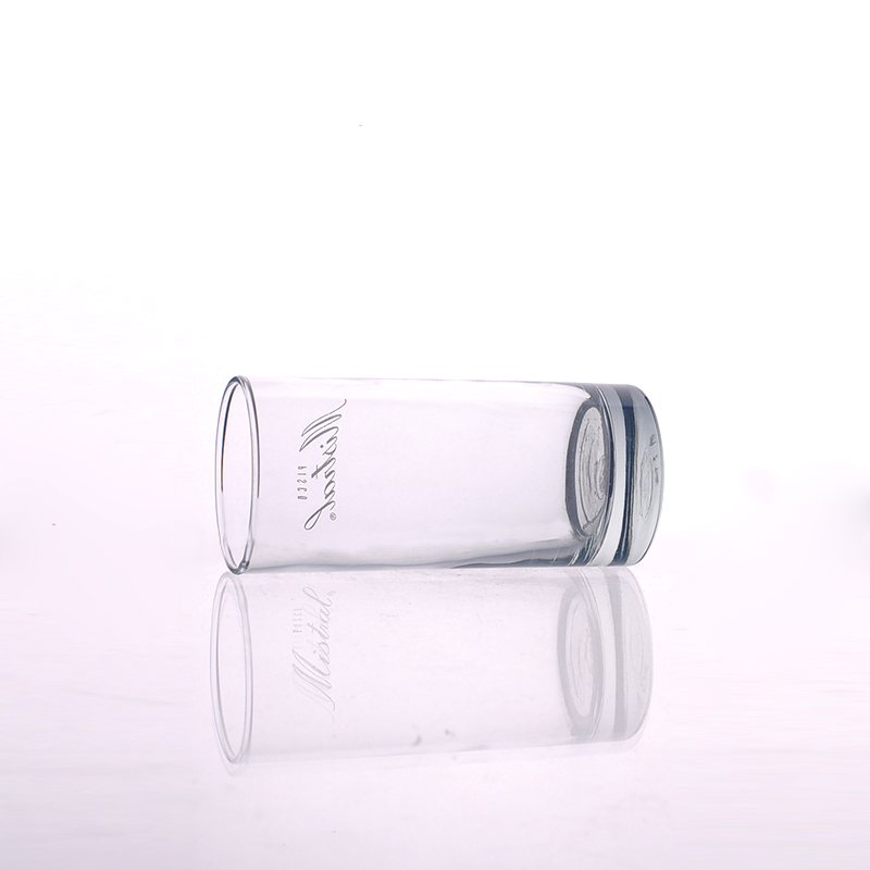 Cylindrical Shape Drinking Tumblers Tall Beverage Glass Cup