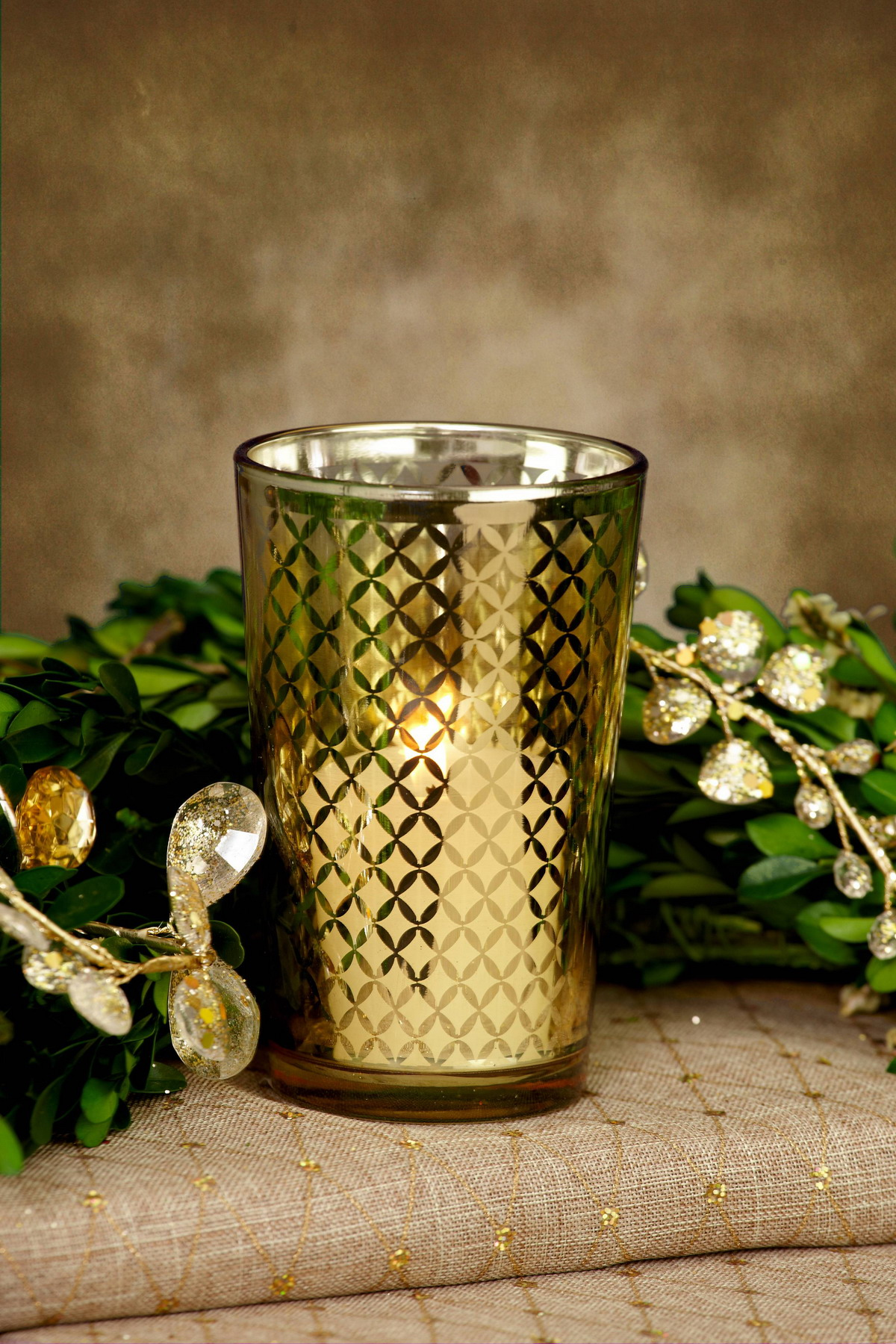 voitve glass candle jar