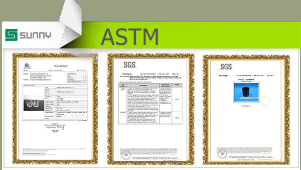 ASTM test from Sunny Glassware