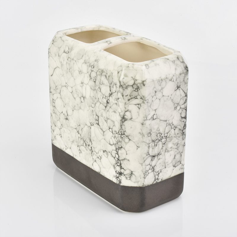 home deco square ceramic bathroom accessories with marble finish