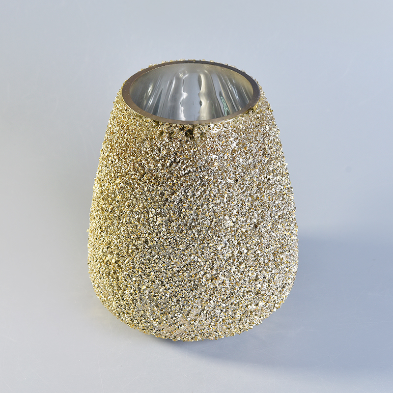 gold color glass candle bowls
