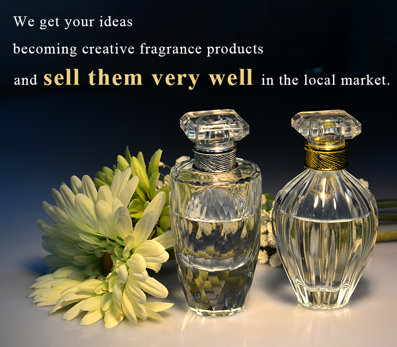 Sunny Glassware help customers becoming creative perfume bottles and sell them very well