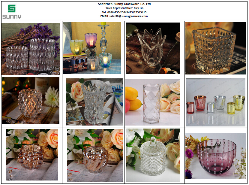 glass candles holders