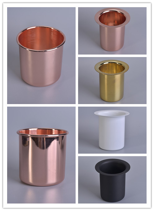 Various of new design stainless steel candle jars