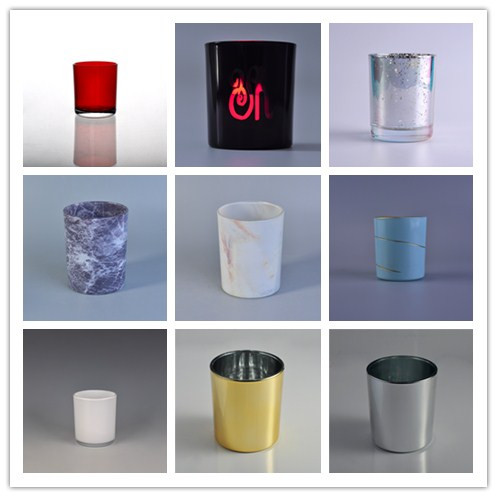 Glass candle holder in various of decoration