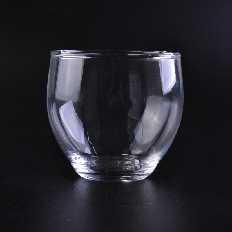 Wholesale raotatable clear round glass cups