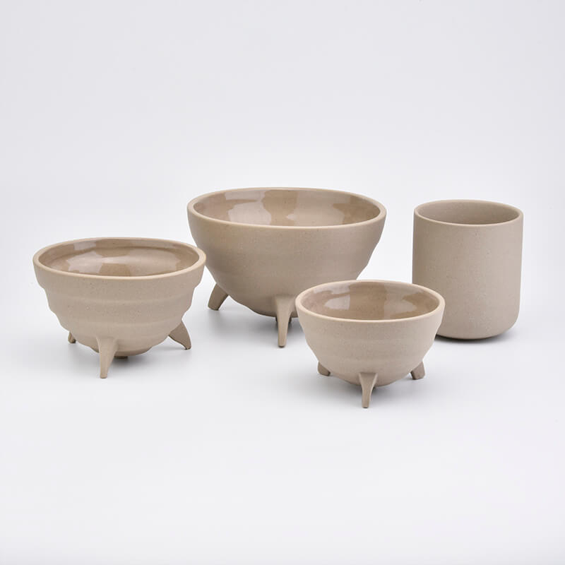 Sandy Soil Containers Ceramic Candle Holders Home Decoration from Sunny Glassware