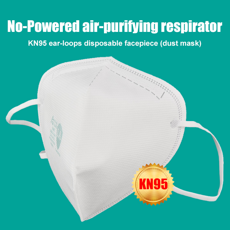 KN95 ear-loops No-Powered air-purifying respirator disposable facepiece