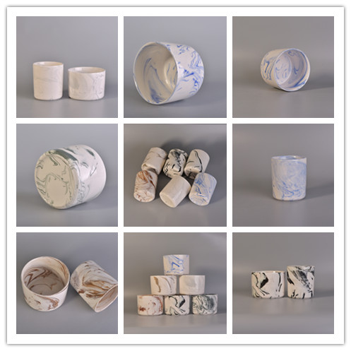 Wholesale hot popular marble ceramic candle holders