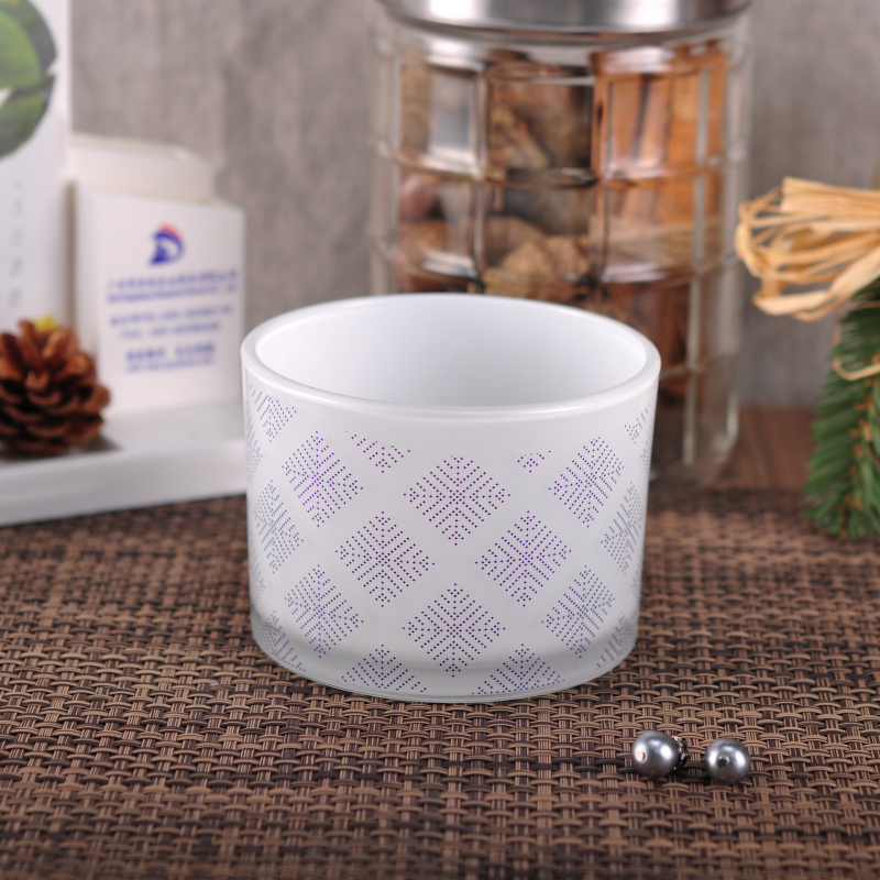 3 Wicks Candle container Glass For Home Decoration Scented Candles