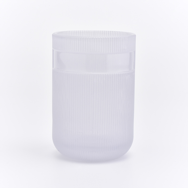 peal white glass jar with lid for candles