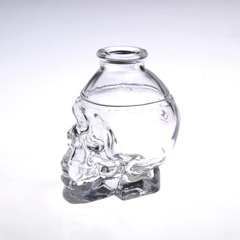 Small skull head bottle perfume comestic bottle glass0000000