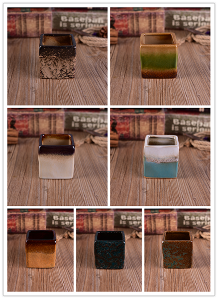 New design square ceramic candle holders from Sunny Glassware